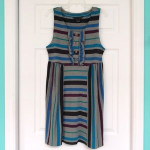 Marc by Marc Jacobs Stripe Dress with Ruffle - L
